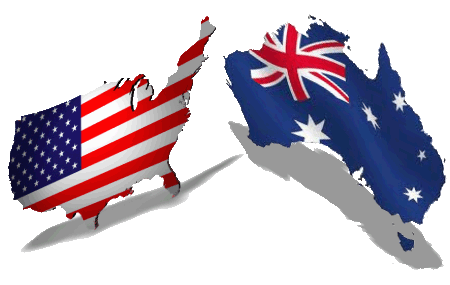 USA-Australia-Continent-Flag-Photo